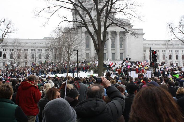 Madison protest | © Jason Dean/flickr