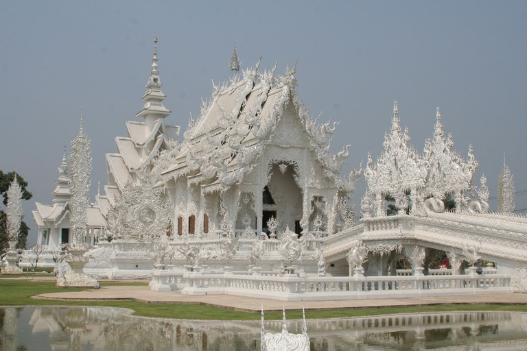 The dream-like White Temple in Chiang Rai