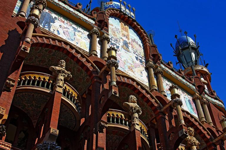 The facade of the Palau de la Música
