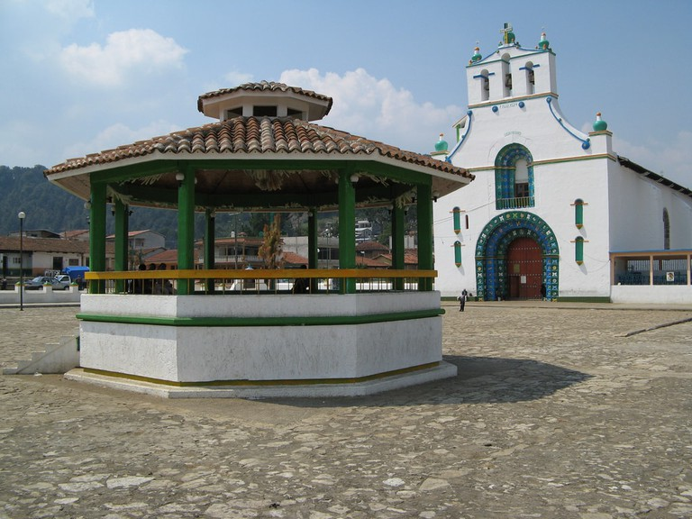 San Juan Chamula's famous church