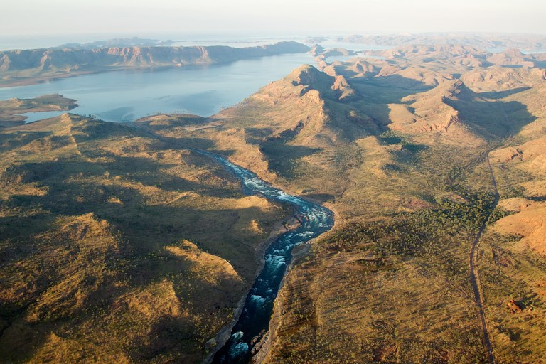 Flying over the Ord River