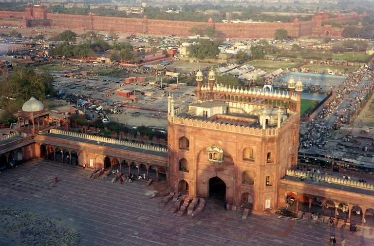 Catch a breathtaking view of Old Delhi from the 40 metre tall minaret at Jama Masjid