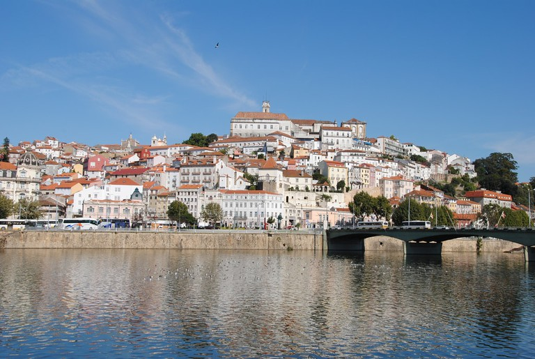 Coimbra city perched beside the Mondego River