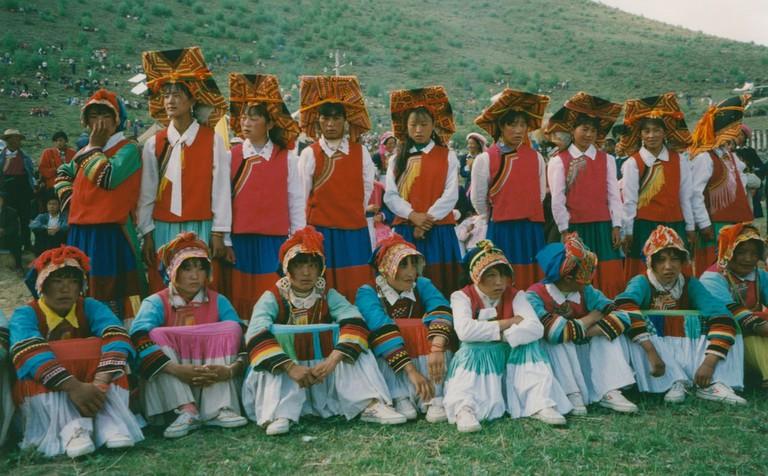 Zhongdian festival, Yi women