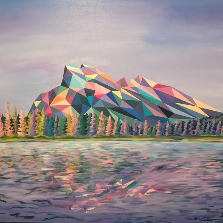 'Vermillion Lakes', acrylic painting