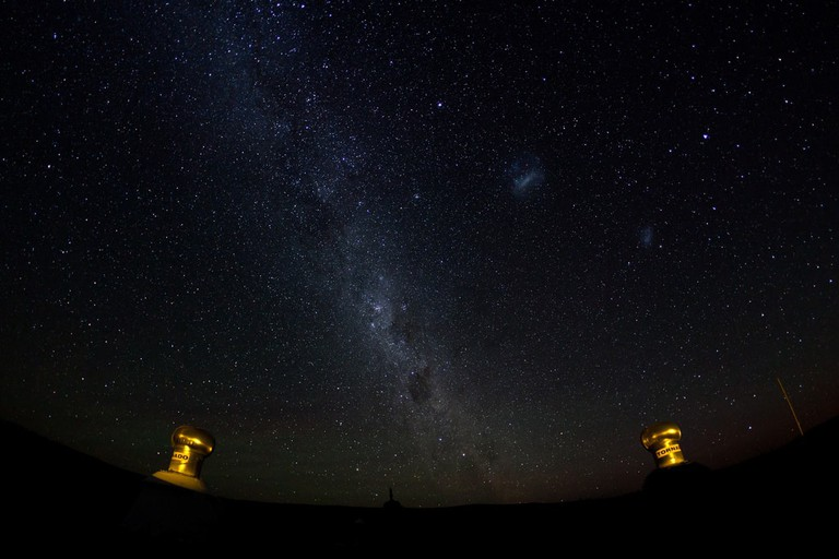The Milky Way and Magellanic Clouds in the Karoo