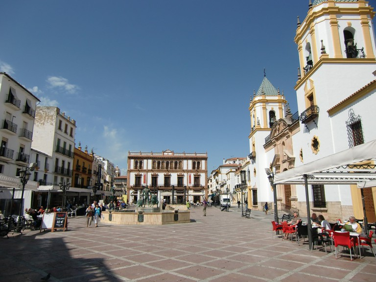 Plaza del Socorro, Ronda: the perfect lunch spot when shopping