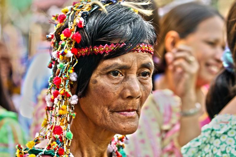 Lumad tribe member in Davao City