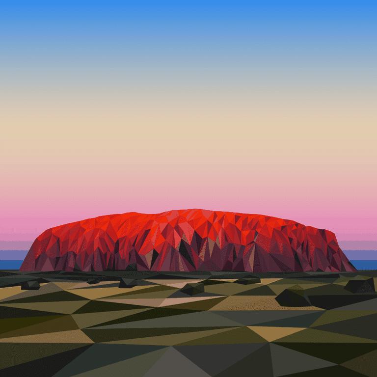 'Ayers Rock', digital sketch