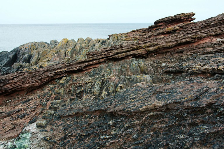 'Where Greywacke Meets Sandstone', Hutton's Unconformity, Siccar Point, Scotland