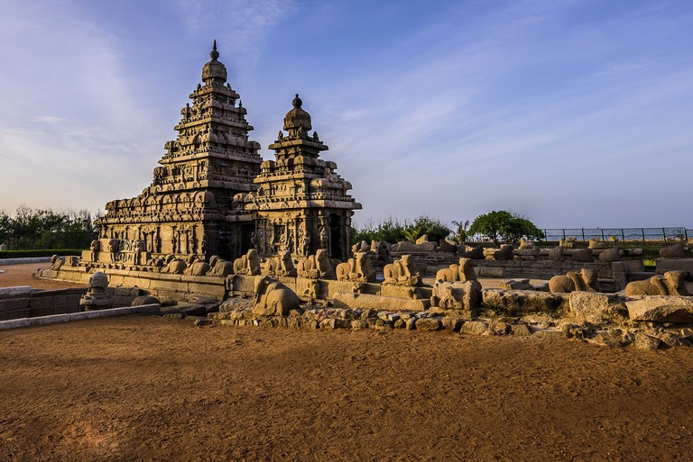 The Shore Temple is the only structural temple among the Mamallapuram remains