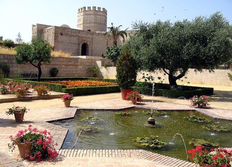 Gardens in the Alcazar of Jerez
