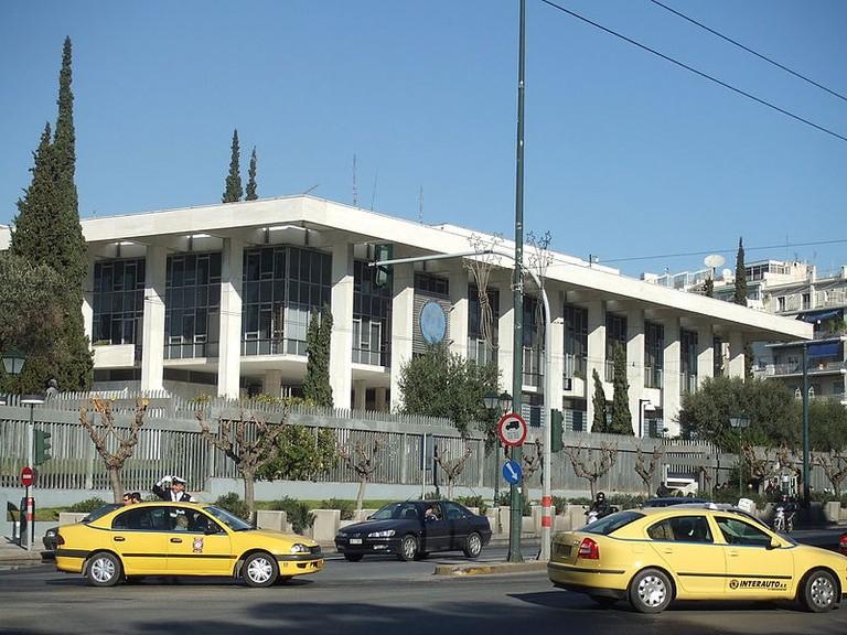 American embassy at Vasilissis Sophias in Athens