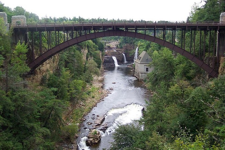 800px-'Ausable_Chasm_Bridge'_by_Tania_Dey