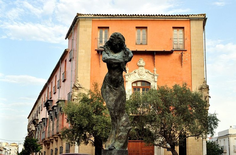 Statue of the flamenco dancer Lola Flores in the San Miguel neighbourhood