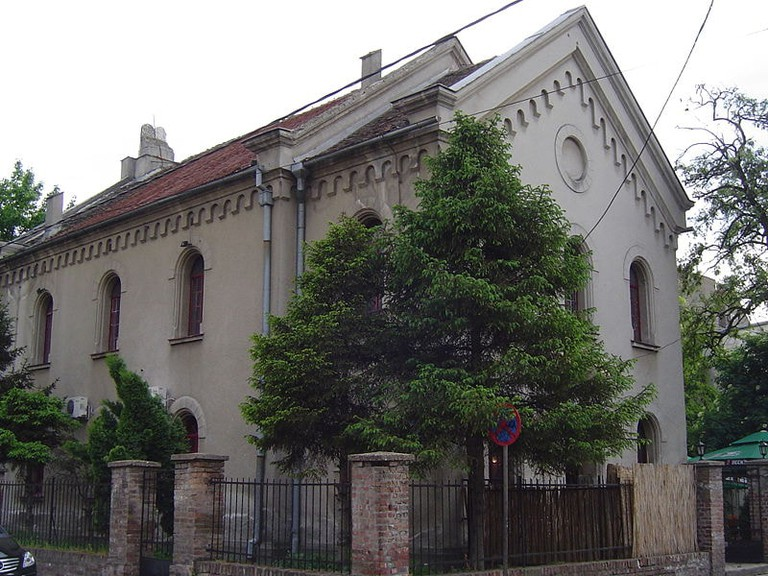 The synagogue in Zemun, once a house of worship, is now a house of food