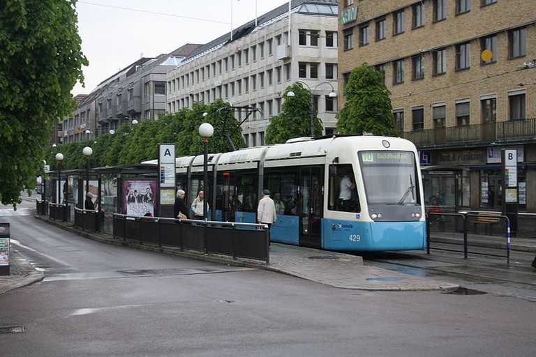 One of Gothenburg's famous trams