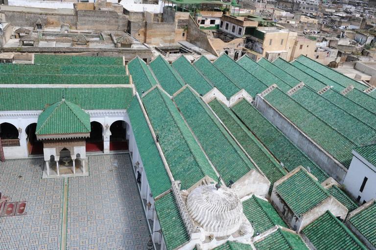 The roof of Al Qarawiyyin