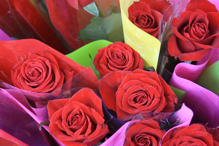 Sant Jordi celebrations typically involve rose and book exchanges