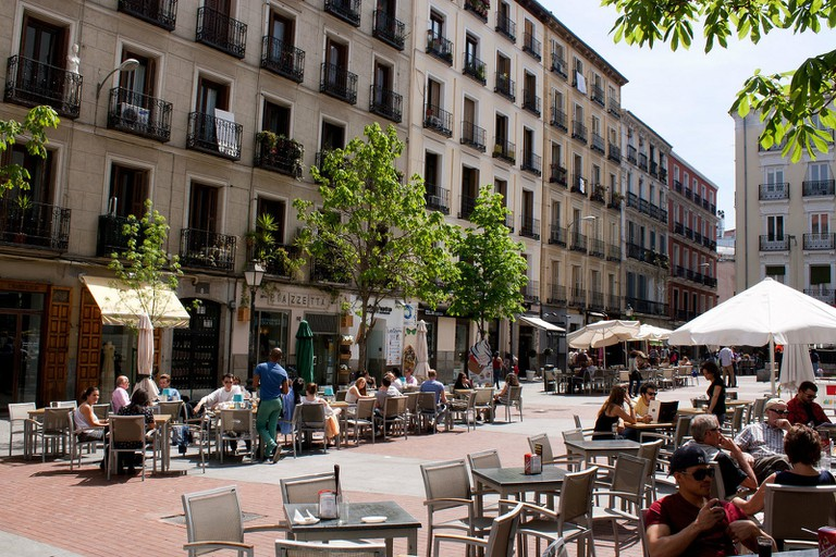 Plaza de Chueca is a great place to hang out in Chueca