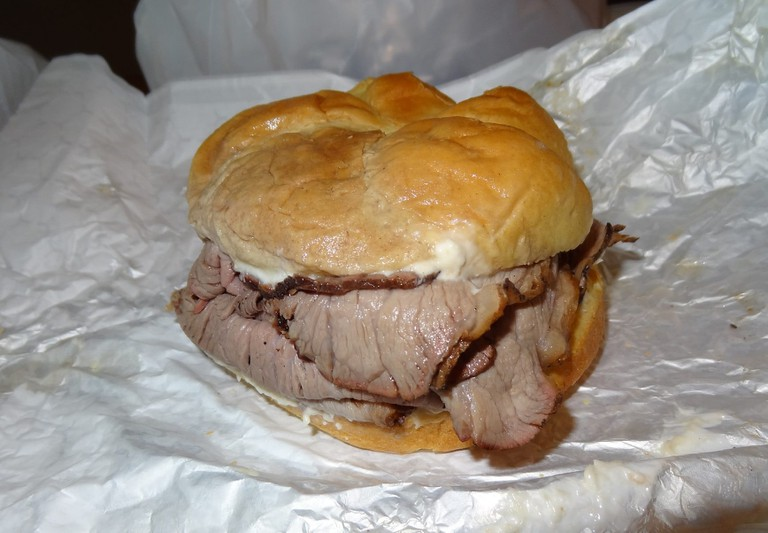 Pit beef, Pioneer Pit Beef, Catonsville, Maryland