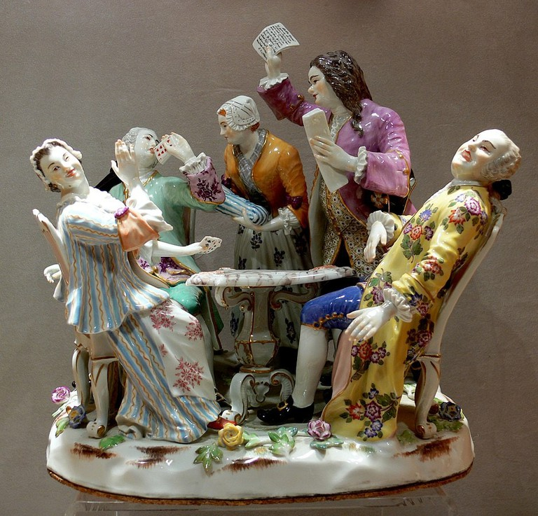A porcelain product in Meissem Porcelain Museum