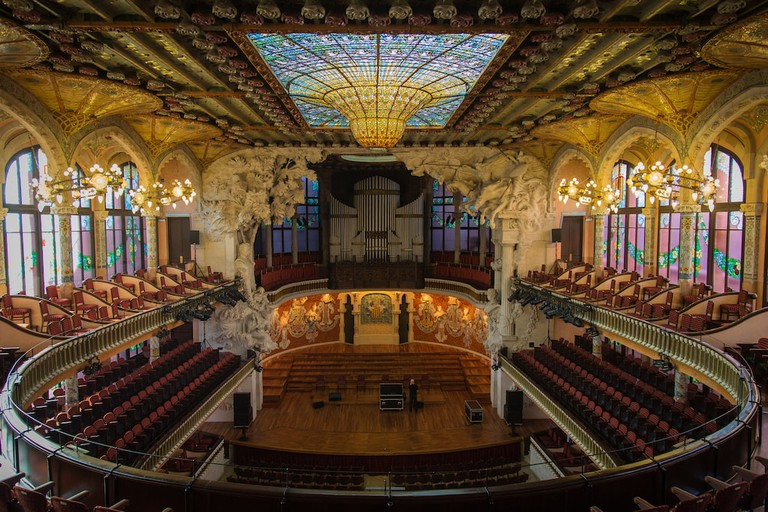 The stunning view from above in the Palau de la Música