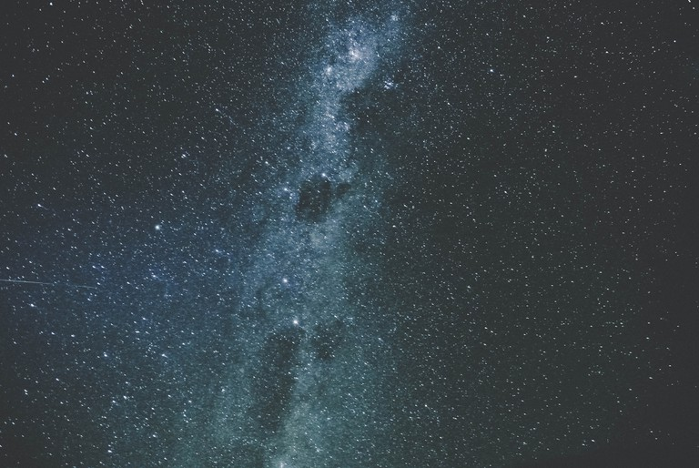 A close-up of the Milky Way viewed from Wanaka