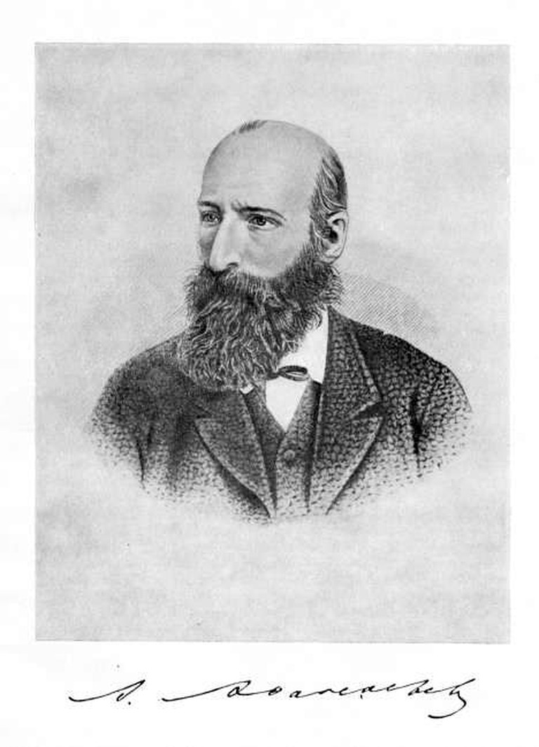 A portrait of Aleksandr Afanasiev