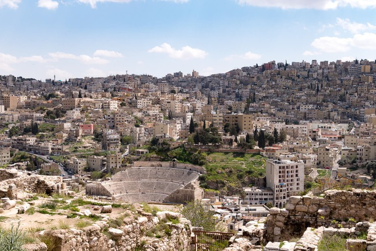 Downtown Amman in the spring