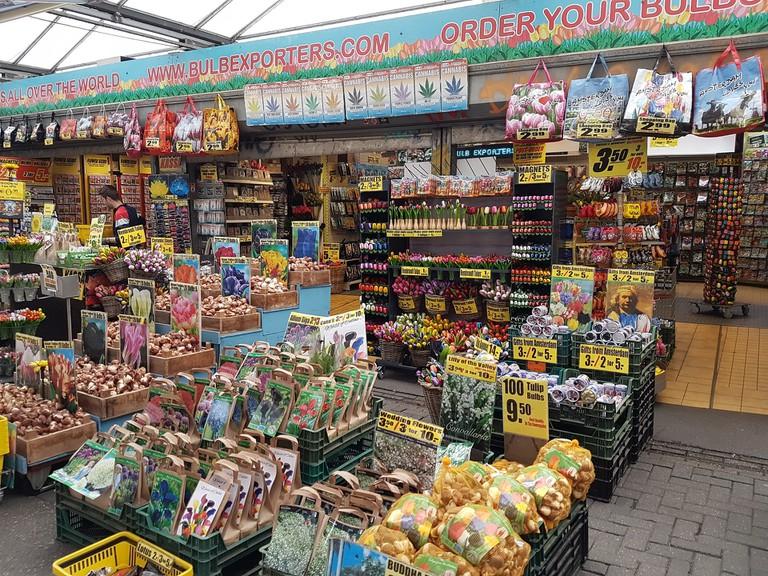 A stall at Bloemenmarkt