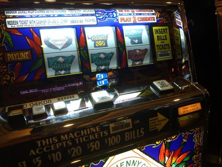 Slot machines in the bingo hall