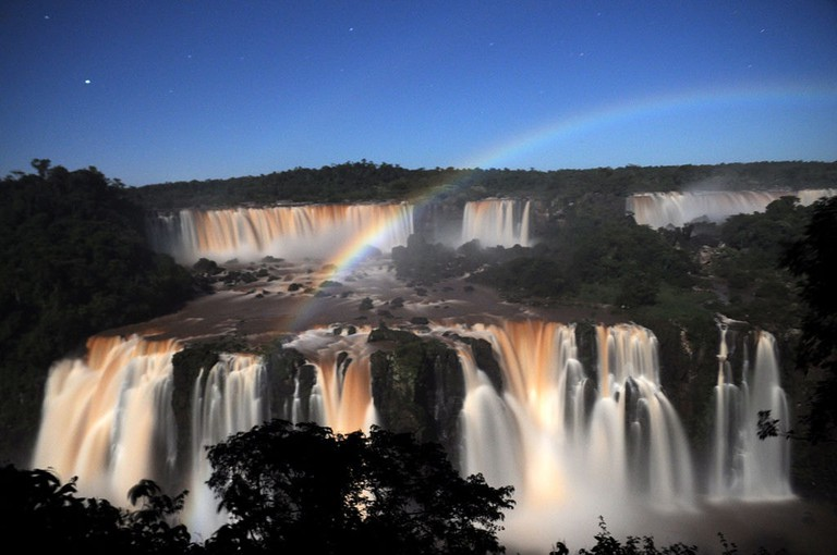 The Iguazu Falls are the largest waterfall system in the world