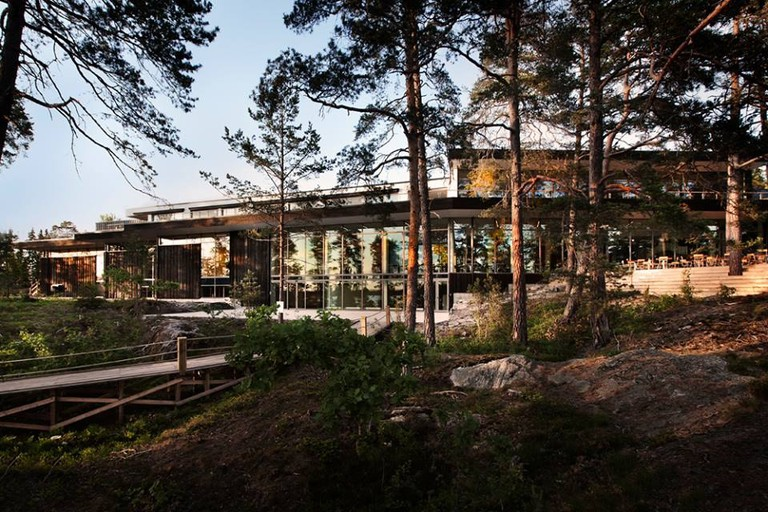 Artipelag is nestled among pine trees