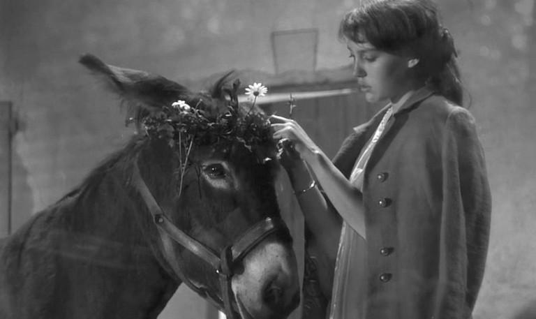 """Anne Wiazemsky in Robert Bresson's """"Au Hasard Balthazar"""""""