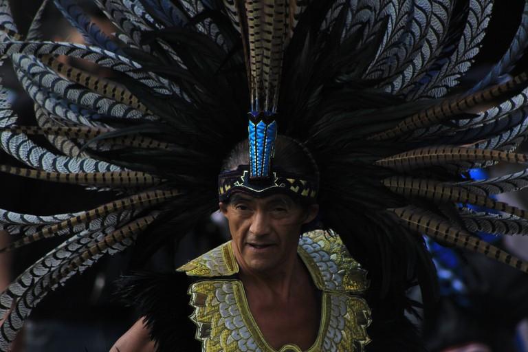 Traditional Aztec dress