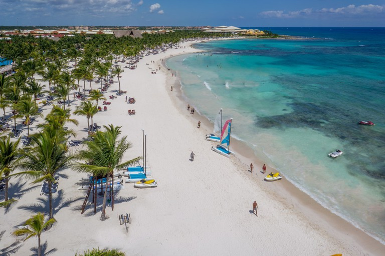 Sail or swim along the Playa del Carmen coast at Barcelo Maya Grand Resort
