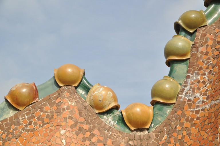Detail of the roof of Casa Batlló