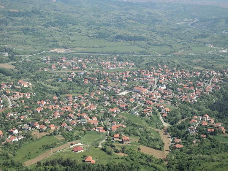 A view of Voždovac's Beli Potok from Avala