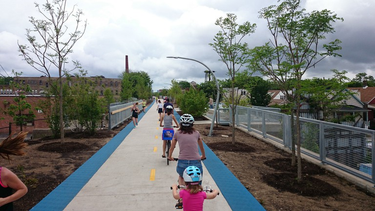The Bloomingdale Trail provides much-needed green space in an urban area