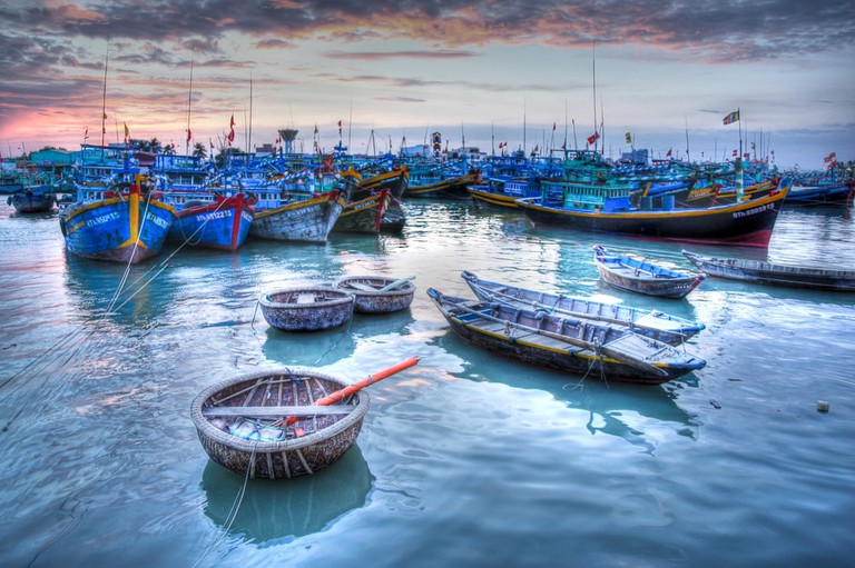 Fishing boats in Phan Thiet