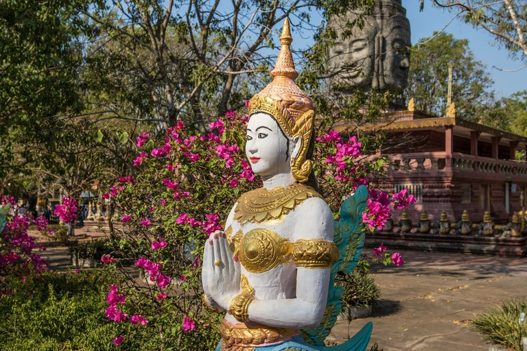A Buddhist monastery in Kampong Cham