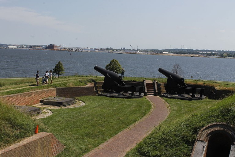 Cannons, Fort McHenry, Baltimore, Maryland, Day