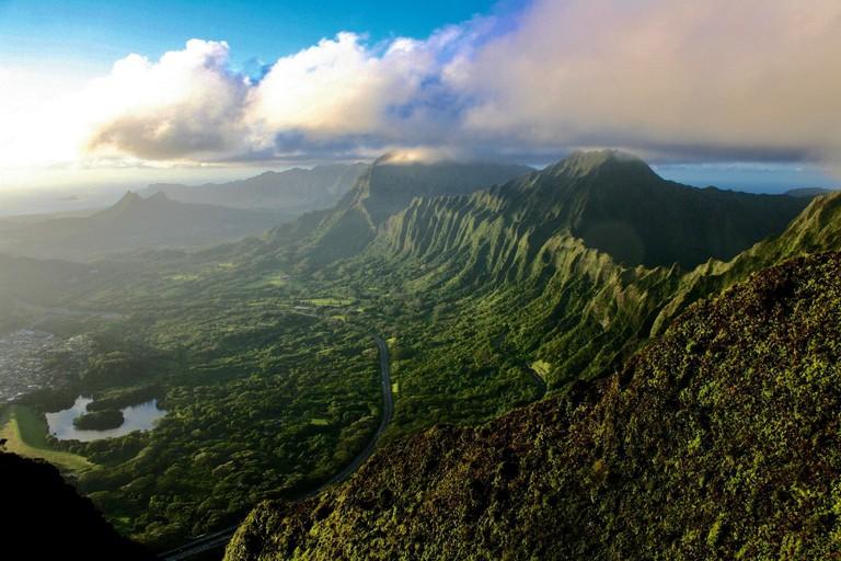 A spectacular vista greets hikers