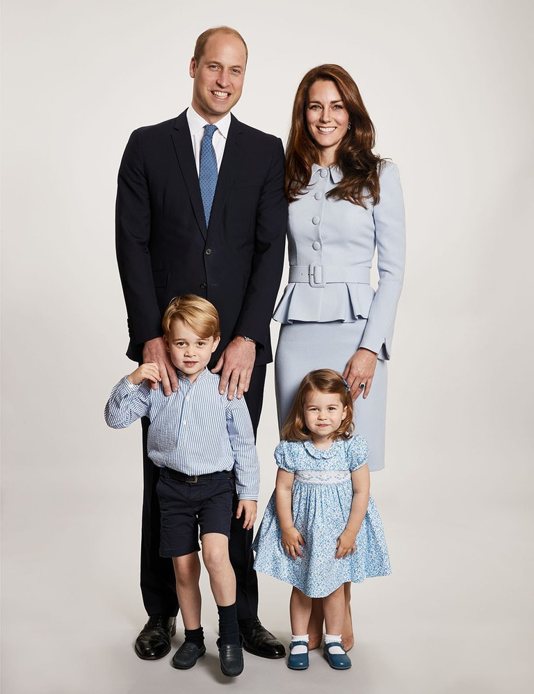 Royal Christmas card, London, United Kingdom - 18 Dec 2017