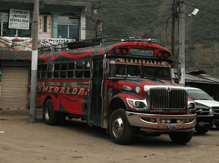 Chicken bus to Xela