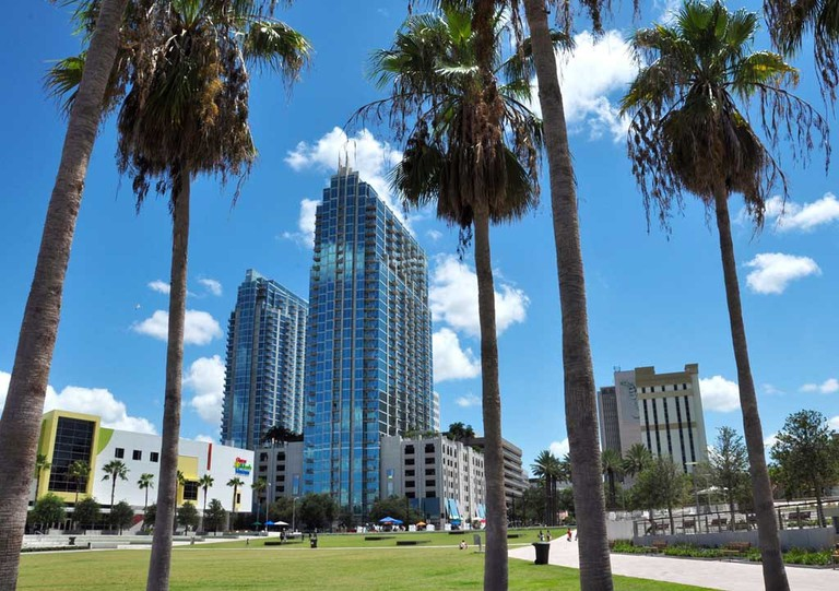 Curtis Hixon Waterfront Park in downtown Tampa.