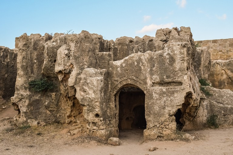 Tombs of the Kings located in Paphos, Cyprus