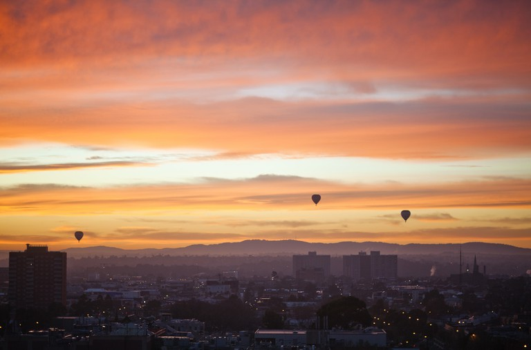 Hot air ballooning over the city is a rare experience