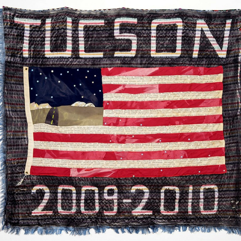 The TUCSON SECTOR 2009-2010 quilt, 253 deaths, made by Verni Greenfield of Portland, Oregon